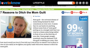 mom guilt screenshot