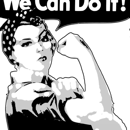 determined woman saying we can do it