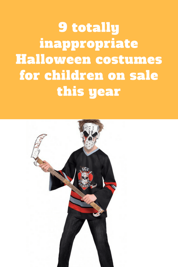 9 totally inappropriate halloween costumes for children on sale this year