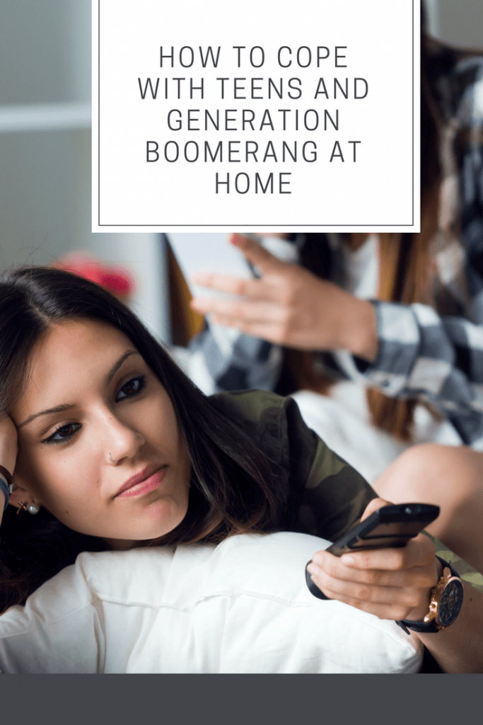 teens and generation boomerang at home