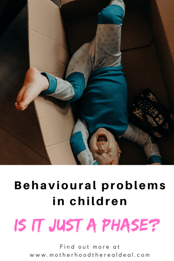 Behavioural problems in children - knowing when it's just a phase #parenting #parentingtips #parentingadvice