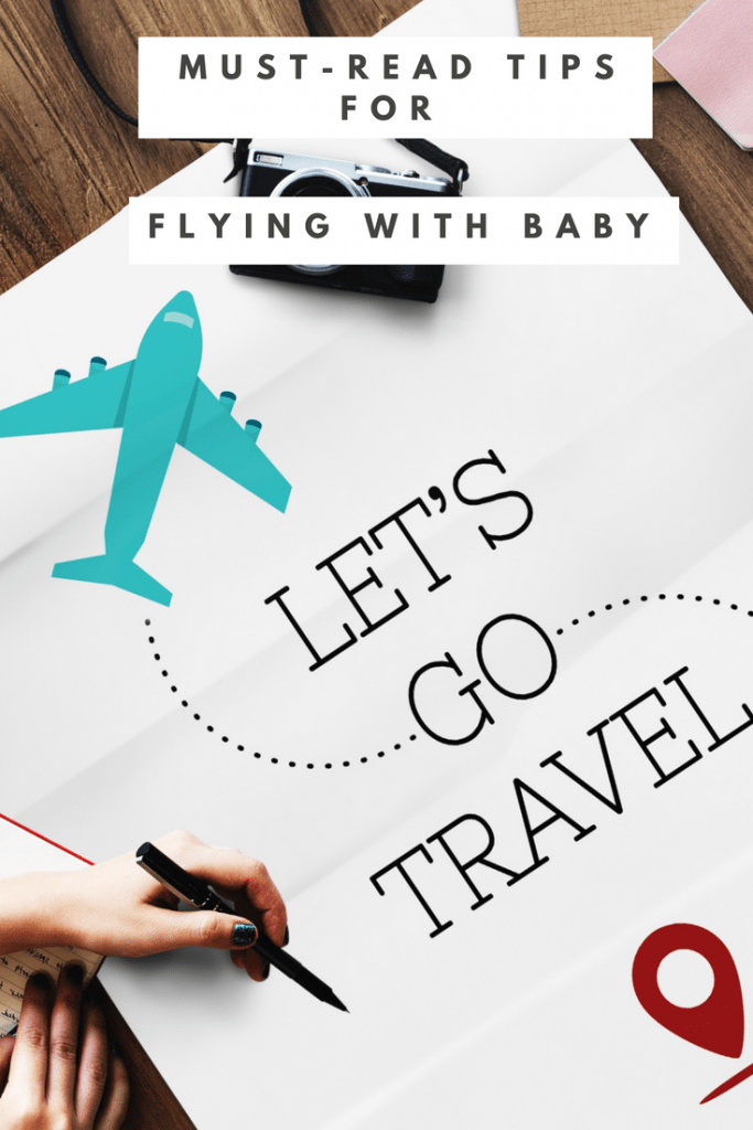 First-hand travel tips for flying with a baby - everything you need to know about making flying with an infant less stressful from the UK parenting blog Motherhood: The Real Deal