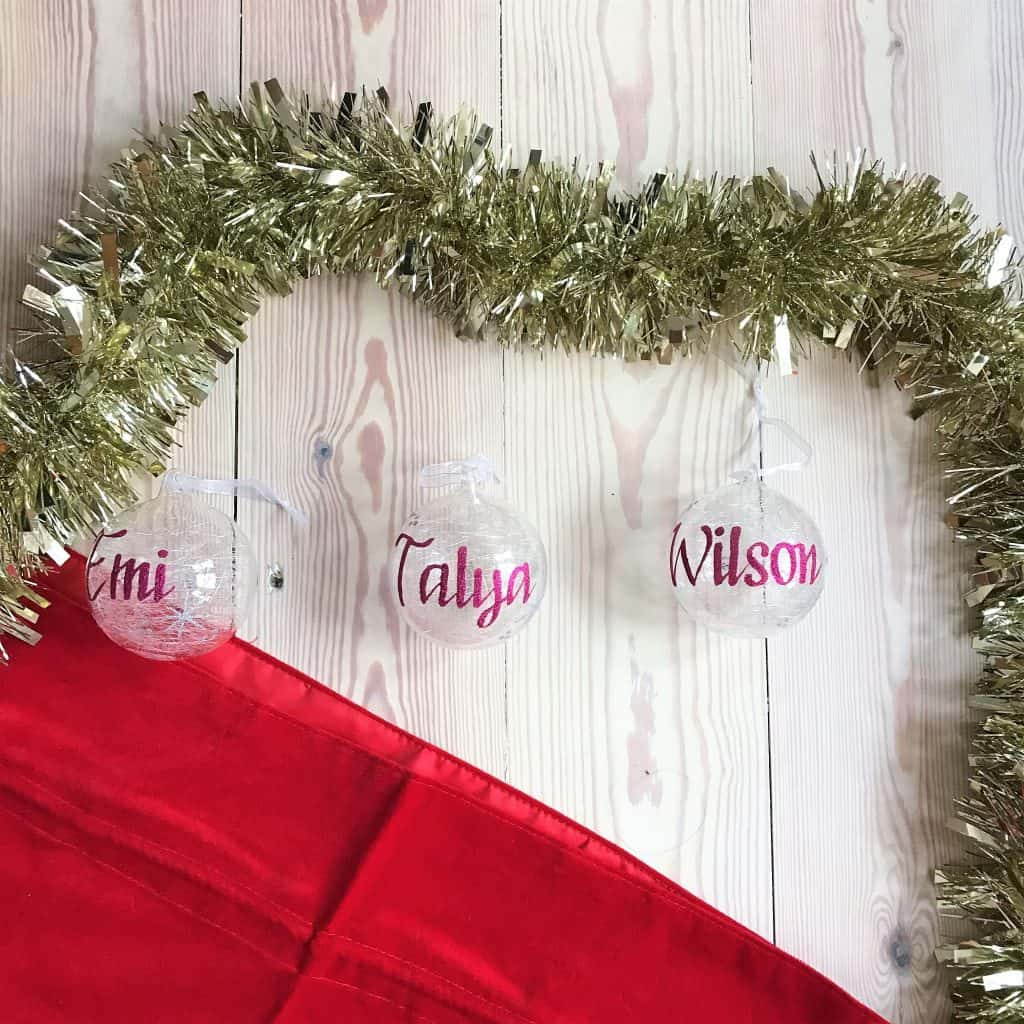personalised Xmas decorations