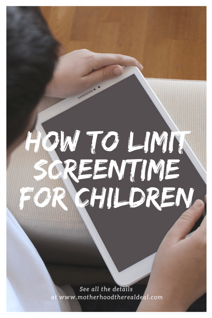 How to limit screentime for children #parenting #parentingtips