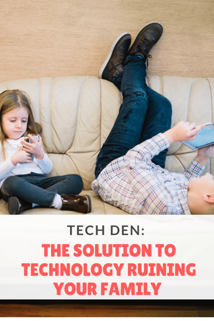 Is technology ruining your family? Introducing Tech Den - your solution! #screentime #parenting