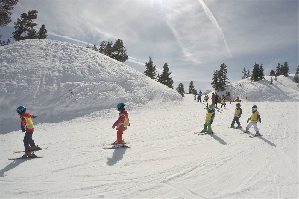 ski holiday with young kids