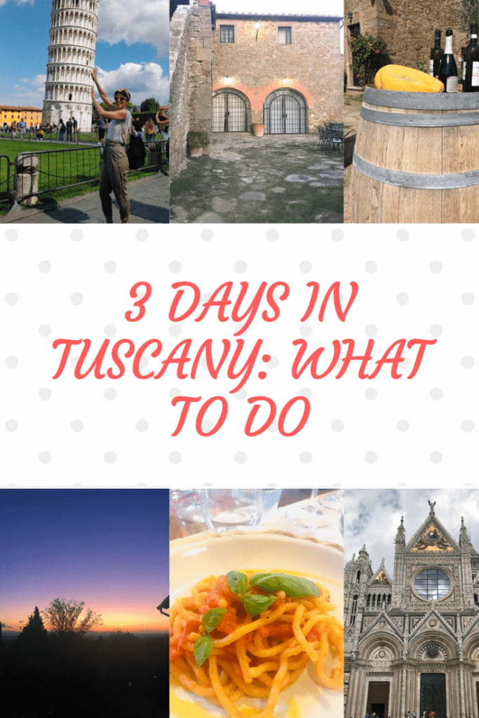 Best things to do in Tuscany in 3 days #travel #italy #tuscany
