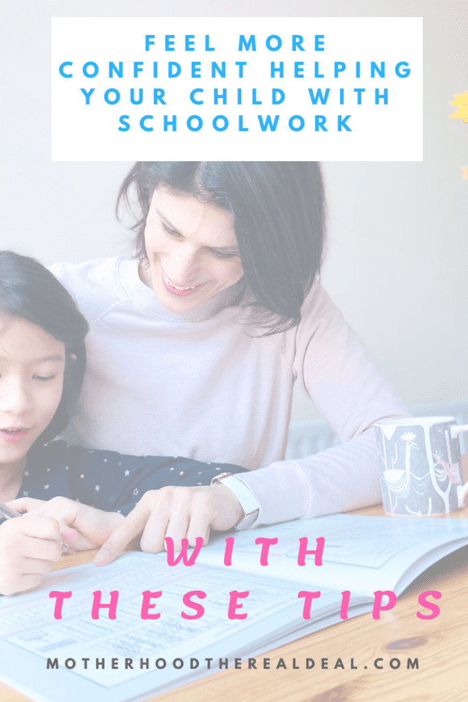 Feel more confident helping your chhild with schoolwork with these tips #school #parenting #schoollife #parentingtips