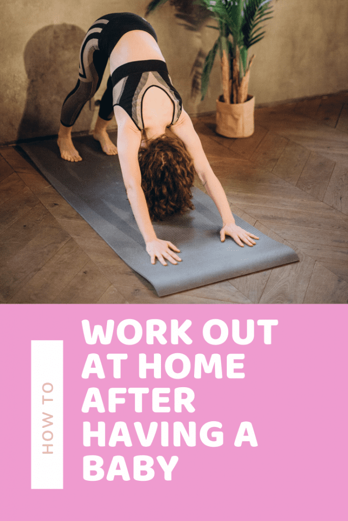 How to workout at home after having a baby #postpartum #fitness #newmom