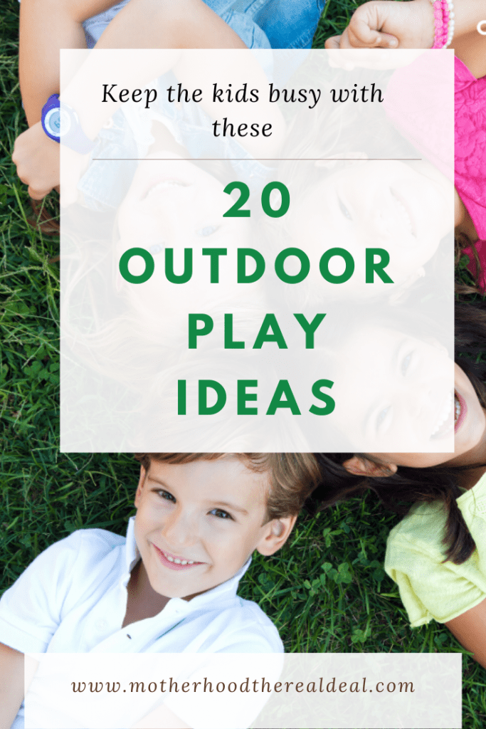 20 outdoor play ideas #outdoorplay #backywardplay #playtime #kidsactivities #summer