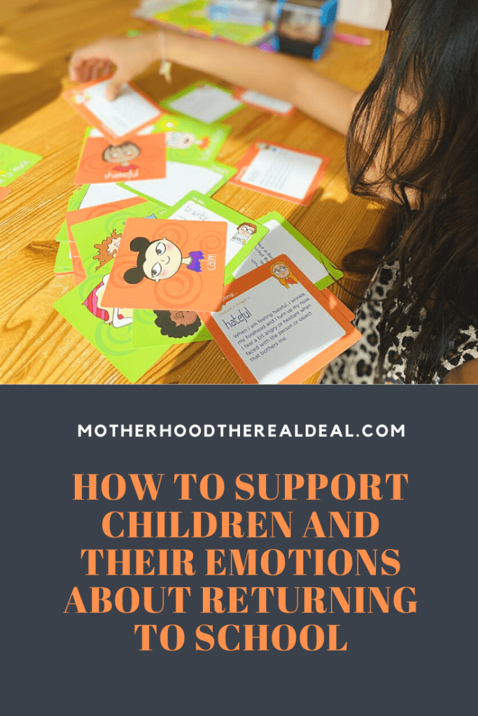 Supporting children and their emotions about returning to school #parenting #parentingtips #school #covid